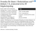 Svenska för lärare